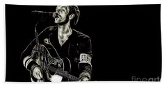 Coldplay Collection Chris Martin Hand Towel by Marvin Blaine