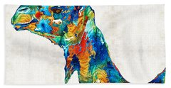 Colorful Camel Art By Sharon Cummings Hand Towel by Sharon Cummings