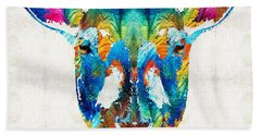 Colorful Sheep Art - Shear Color - By Sharon Cummings Hand Towel by Sharon Cummings