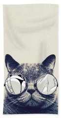 Cool Cat Hand Towel by Vitor Costa