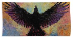 Crow Hand Towel by Michael Creese