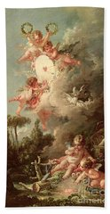Cupids Target Hand Towel by Francois Boucher
