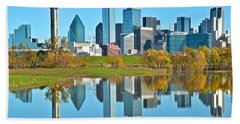 Dallas Mirror Image Hand Towel by Frozen in Time Fine Art Photography