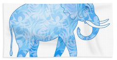 Damask Pattern Elephant Hand Towel by Antique Images