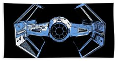 Darth Vaders Tie Figher Advanced X1 Tee Hand Towel by Edward Fielding