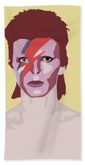 David Bowie Hand Towel by Nicole Wilson