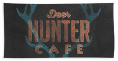 Deer Hunter Cafe Hand Towel by Edward Fielding