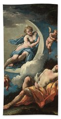Diana And Endymion Hand Towel by Michele Rocca