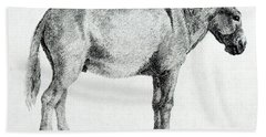 Donkey Hand Towel by George Stubbs