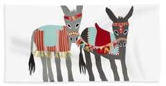Donkeys Hand Towel by Isoebl Barber