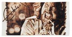 Eddie Vedder Hand Towel by Lance Gebhardt
