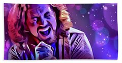 Eddie Vedder Portrait Hand Towel by Scott Wallace