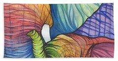 Elephant Hug Hand Towel by Sarah Jane