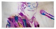 Elton John Hand Towel by Dan Sproul