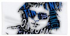 Elton John Tiny Dancer Hand Towel by Marvin Blaine