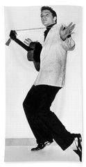 Elvis Presley In 1956 Hand Towel by Underwood Archives