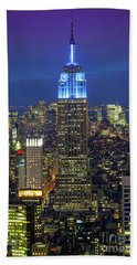 Empire State Building Hand Towel by Inge Johnsson