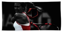 Eugenie Bouchard Hand Towel by Brian Reaves