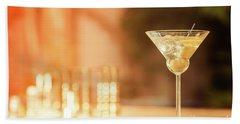 Evening With Martini Hand Towel by Ekaterina Molchanova