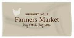 Farmers Market Hand Towel by Nancy Ingersoll