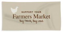 Farmers Market Hand Towel by Nancy Ingersoll