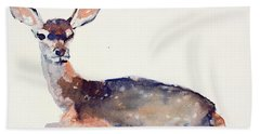 Fawn Hand Towel by Mark Adlington