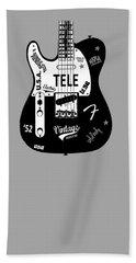 Fender Telecaster 52 Hand Towel by Mark Rogan