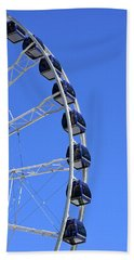 Ferris Wheel At Navy Pier, Chicago No. 1 Hand Towel by Sandy Taylor