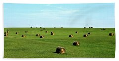 Fields Of Green Hand Towel by Mark Mickelsen