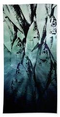 Fish Pattern Hand Towel by Tom Gowanlock