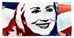 Flag Of Hillary Hand Towel by Jost Houk
