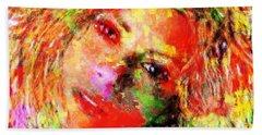 Flowery Shakira Hand Towel by Navo Art