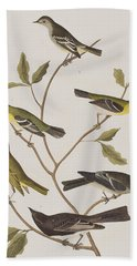 Fly Catchers Hand Towel by John James Audubon