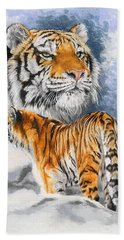 Forceful Hand Towel by Barbara Keith