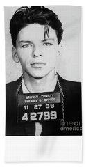 Frank Sinatra Mugshot Hand Towel by Jon Neidert