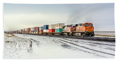 Freight Train Hand Towel by Todd Klassy