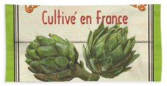 French Vegetable Sign 2 Hand Towel by Debbie DeWitt