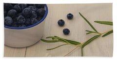 Fresh Blueberries Hand Towel by Kim Hojnacki