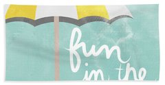 Fun In The Sun Hand Towel by Linda Woods