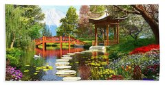 Gardens Of Fuji Hand Towel by Dominic Davison