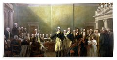 General Washington Resigning His Commission Hand Towel by War Is Hell Store