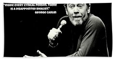 George Carlin Art  Hand Towel by Pd
