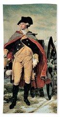 George Washington At Dorchester Heights Hand Towel by Emanuel Gottlieb Leutze