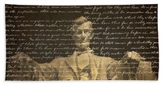 Gettysburg Address Hand Towel by Diane Diederich