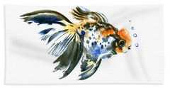Goldfish Hand Towel by Suren Nersisyan