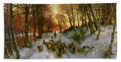 Glowed With Tints Of Evening Hours Hand Towel by Joseph Farquharson
