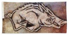 Go Hogs Go  Hand Towel by Dawn Bearden