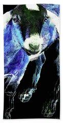 Goat Pop Art - Blue - Sharon Cummings Hand Towel by Sharon Cummings