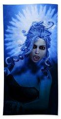 Gorgon Blue Hand Towel by Joaquin Abella