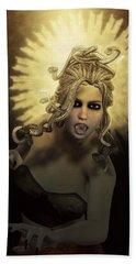 Gorgon Medusa Hand Towel by Joaquin Abella